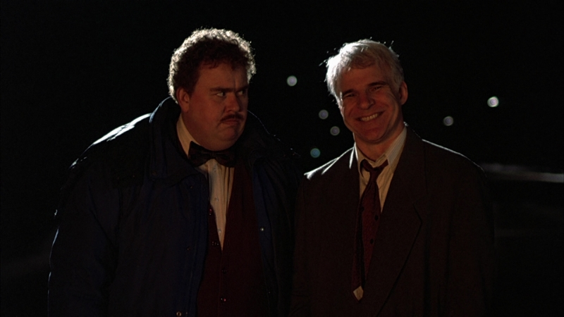 John Candy and Steve Martin star in Planes, Trains, and Automobiles (Image © Paramount Pictures).