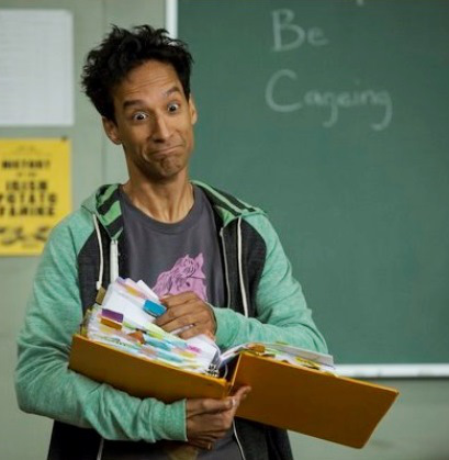Abed (Danny Pudi) goes full Ridiculous Cage (Image © Sony)