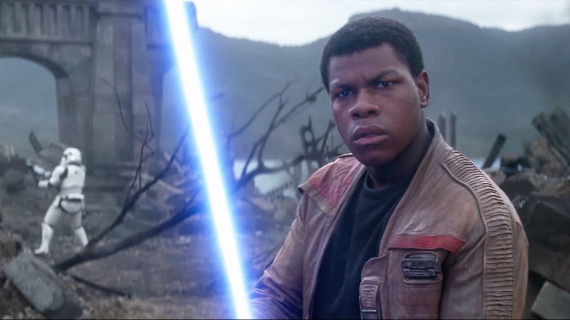 John Boyega in J.J. Abrams'  Star Wars: The Force Awakens  (Image © Lucasfilm).