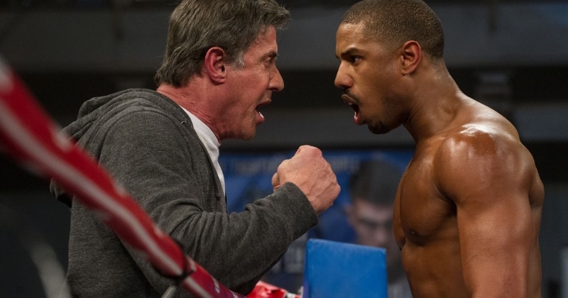 Sylvester Stallone and Michael B. Jordan in Ryan Coogler's  Creed  (Image © MGM/ Warner Bros.)