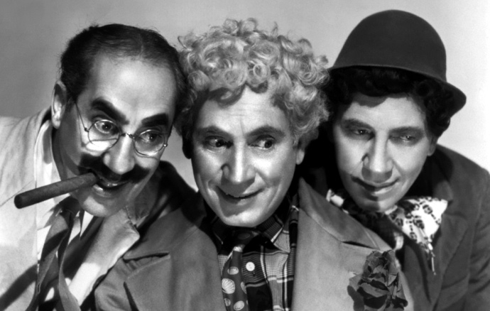 The Marx Brothers, shown here snickering at Ryan Roach's response.