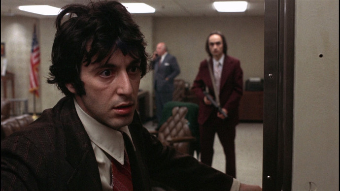 Pacino and Cazale, being awesome, in 1975's Dog Day Afternoon (Image © Warner Bros.)