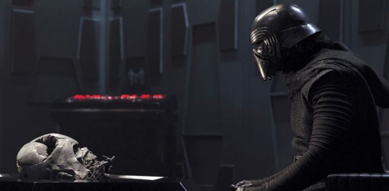 Kylo Ren communicates with the memory of Darth Vader (Image © Lucasfilm).