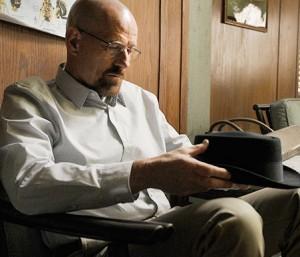 Walt fingers his Heisenberg {Image © Sony/AMC)