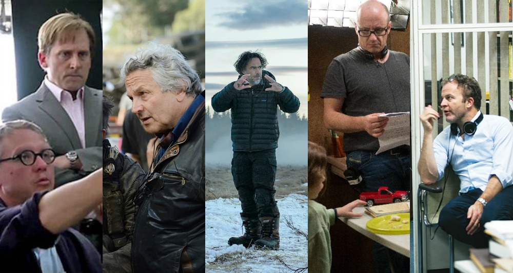 Adam McKay (The Big Short), George Miller (Mad Max: Fury Road), Alejandro González Iñárritu (The Revenant), Lenny Abrahamson (Room), Tom McCarthy (Spotlight)