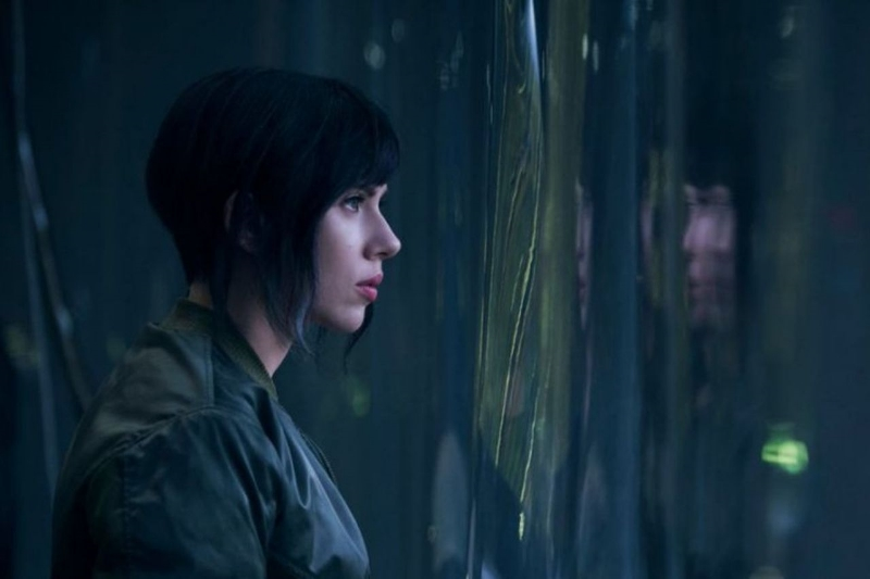 Scarlett Johansson in the long-awaited, controversial adaption of   Ghost in the Shell  (Image © Paramount Pictures).