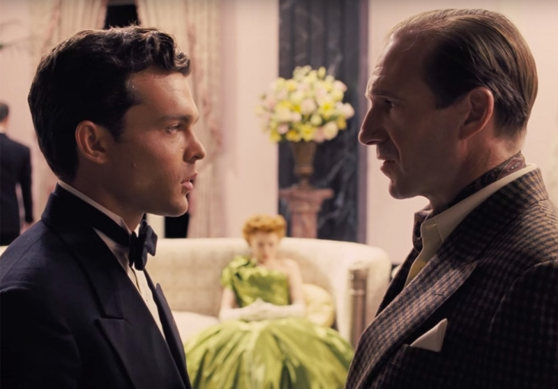 Alden Ehrenreich and Ralph Fiennes face off in  Hail, Caesar!  (Image © Universal Pictures).