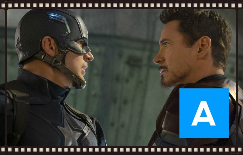 Captain America and Iron Man face off in  Captain America: Civil War  (Image © Marvel)