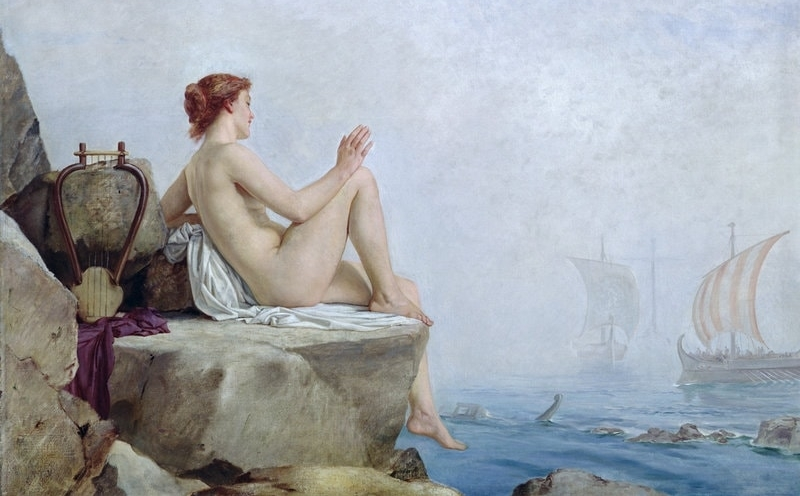 """The Siren"" by  Edward Armitage"