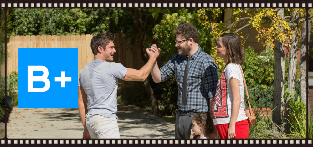 Zac Efron, Seth Rogen, and Rose Byrne in Nicholas Stoller's Neighbors 2. Image © Universal Pictures