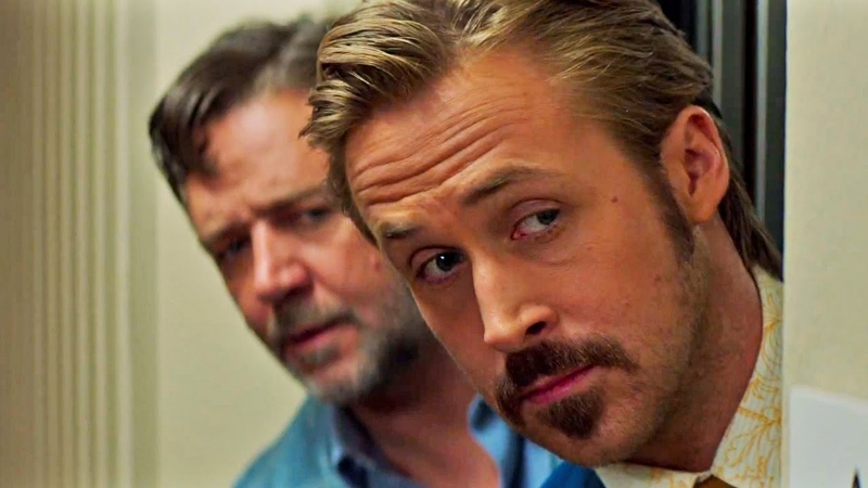Russell Crowe and Ryan Gosling in Shane Black's  The Nice Guys  (Image  ©  Warner Bros.)