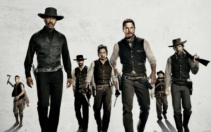 The Magnificent Seven, a movie as cohesive and compelling as this poorly-Photoshopped image would indicate (Image © MGM/Columbia Pictures)