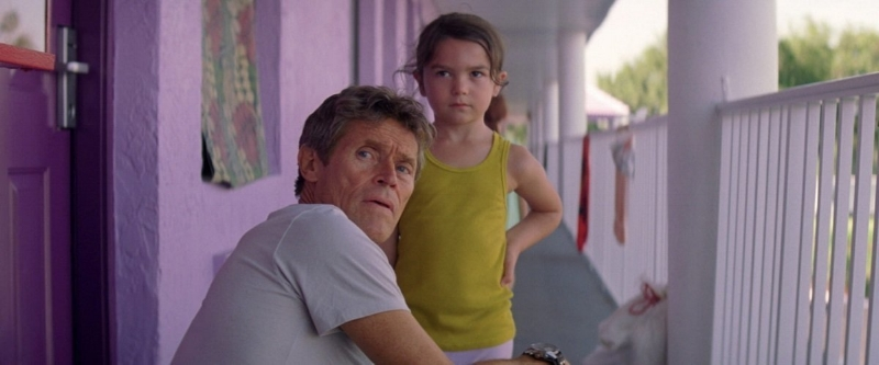 Willem Dafoe and Brooklynn Prince (Image © A24)
