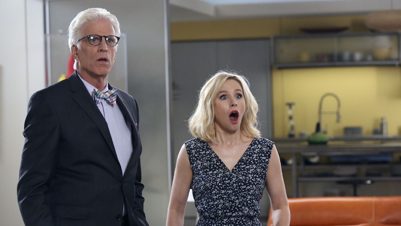 Ted Danson and Kristen Bell (Image © NBC Universal)
