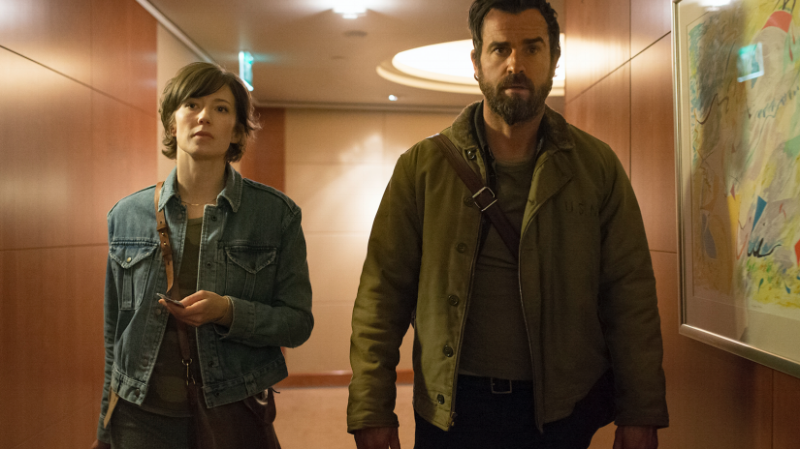 Carrie Coon and Justin Theroux (Image © HBO)