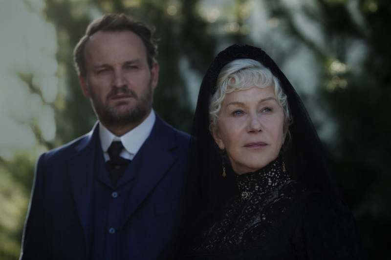 Jason Clarke and Helen Mirren stare off into the bright future in which they are no longer in Winchester (Image Lionsgate)