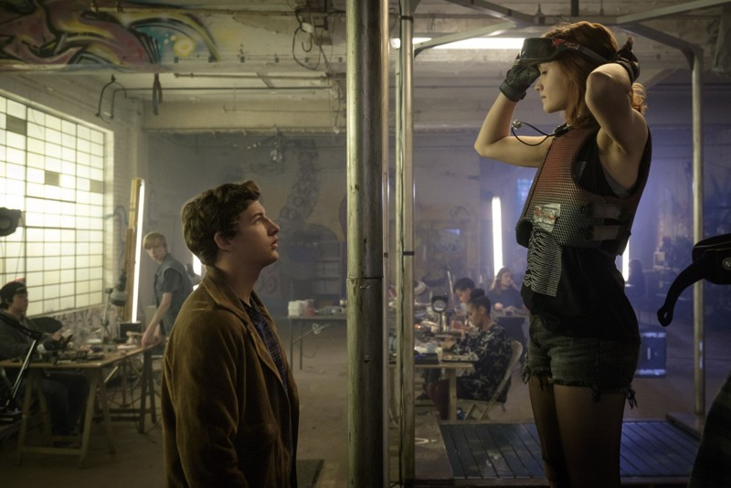 Tye Sheridan and Olivia Cooke star in Steven Spielberg's  Ready Player One  (Image © Warner Bros.)