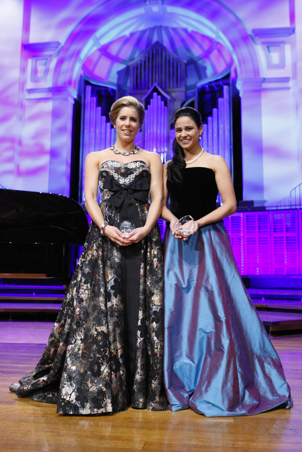 Stacey Alleaume winner of The Sydney Eisteddfod McDonalds Aria with runner-up Lauren Fagan. Photo: ©  WinkiPop Media.