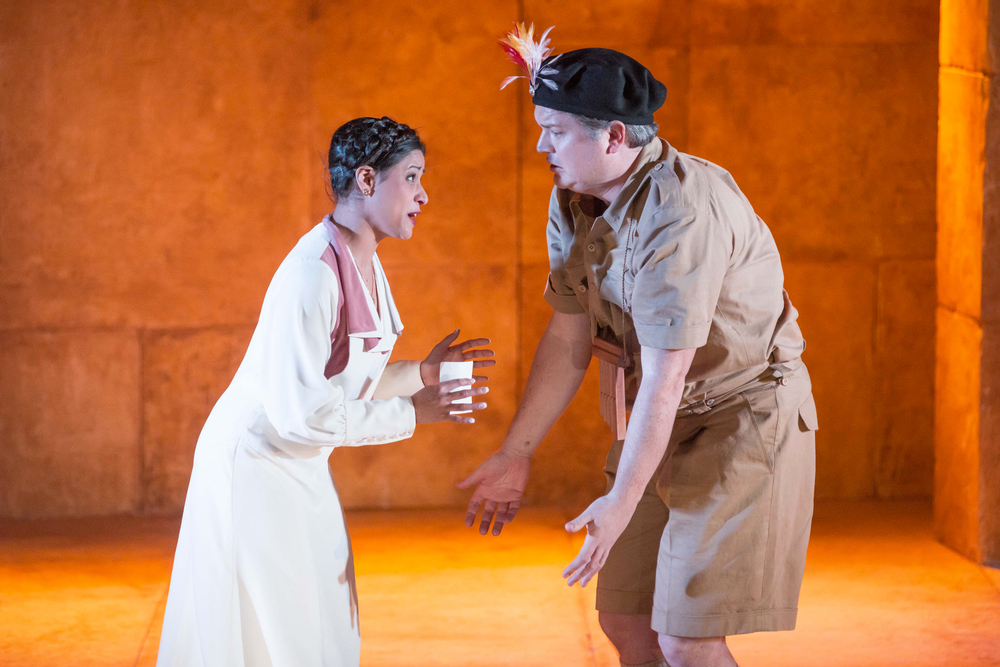 Stacey Alleaume as Pamina, Andrew Moran as Papageno. Photo: ©  Albert Comper