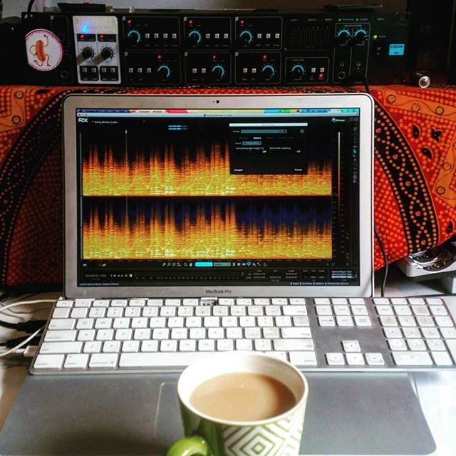My Saturday Morning #rx #izotope #soundforfilm #denoise #protools #tea #sounddevices #schoeps