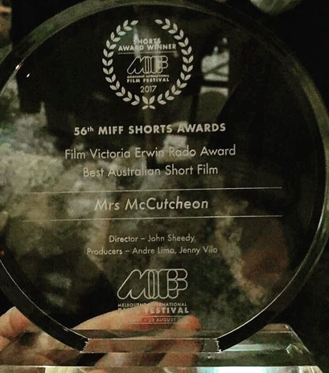 Throw back to last yeah when an awesome little film that I worked on won Best Australian Short Film at MIFF. Mrs McChutcheon has continued to win awards and charm audiences all around the world. We'll done guys! Look forward to the next one!  #mrsmccutcheonfilm #shortfilms #soundrecordist