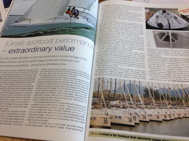 Fareast 28R in Seahorse Magazine - Regatta Yachting