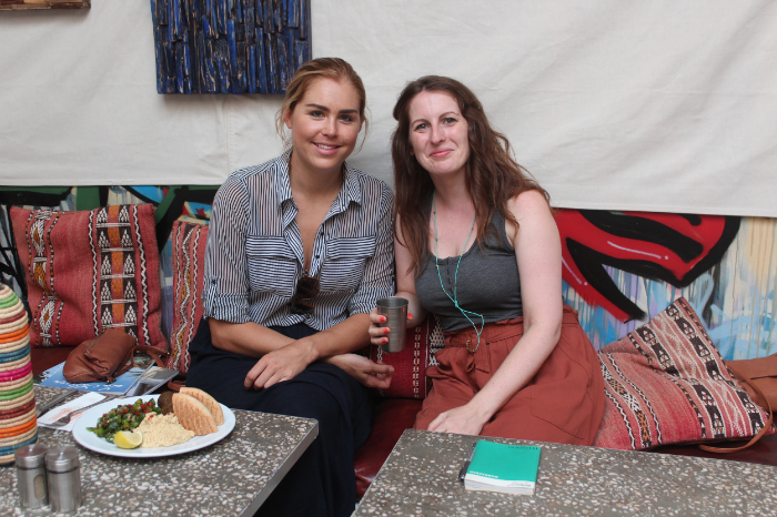 Image: Marie Milligan 2015. Marie and Katie of Boutique Souk exploring in Marrakech.