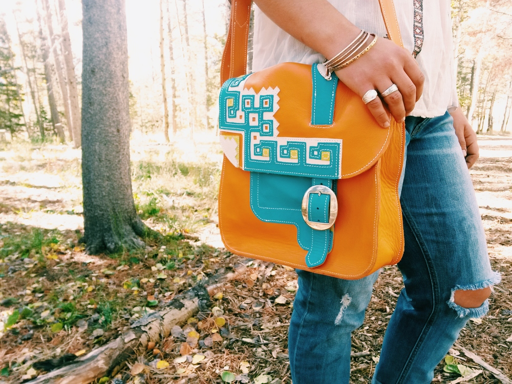 """Check out M Bar M Leather Design for some of the sweetest bags you'll ever find! Mine matches my style so perfectly! The artisan is pretty awesome too :)"" Kasandra R. - CO"