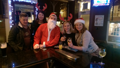 Some of the team at theblueballroom's Christmas party this year!