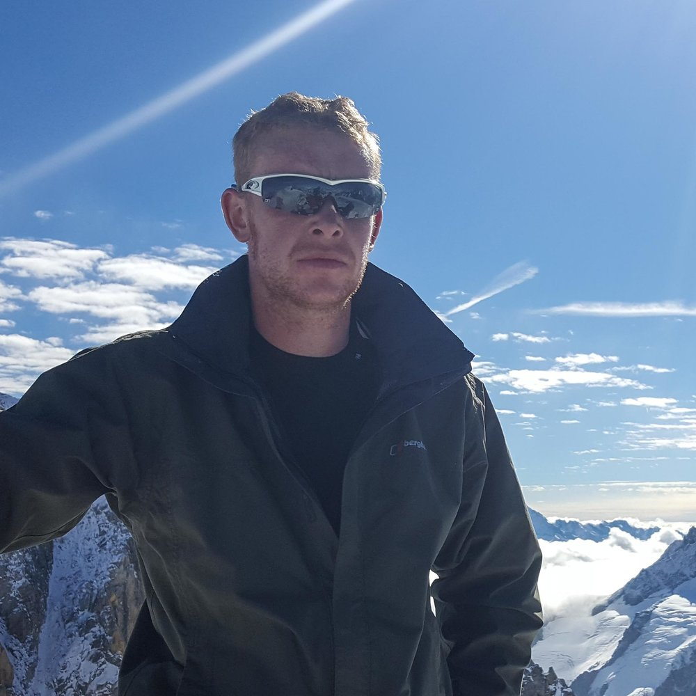 Sean Winder in training for Mt. Aconcagua in January 2017