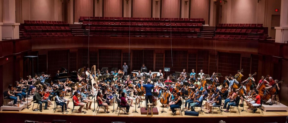 Shepherd School Symphony Orchestra rehearsal for the 2014 East Coast Tour