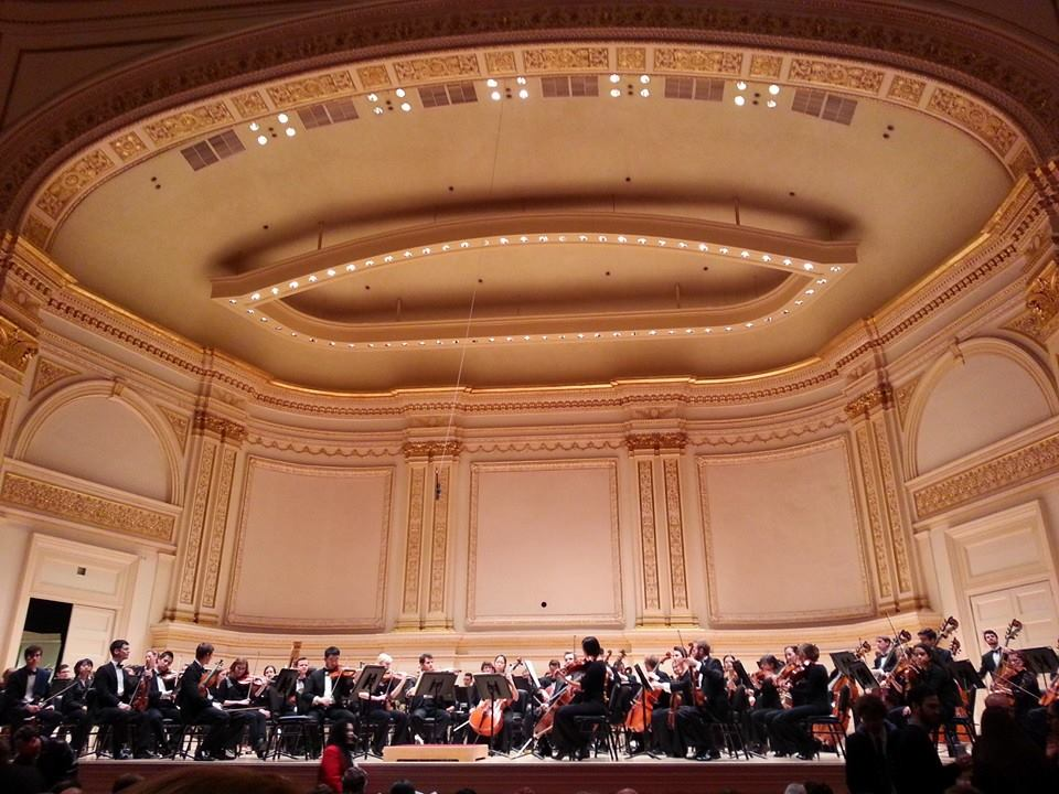 The Shepherd School Symphony Orchestra on tour in Carnegie Hall