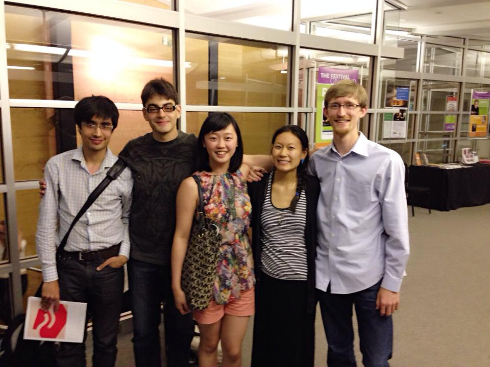 A Juilliard reunion piano class of 2008 at Aspen Music Festival