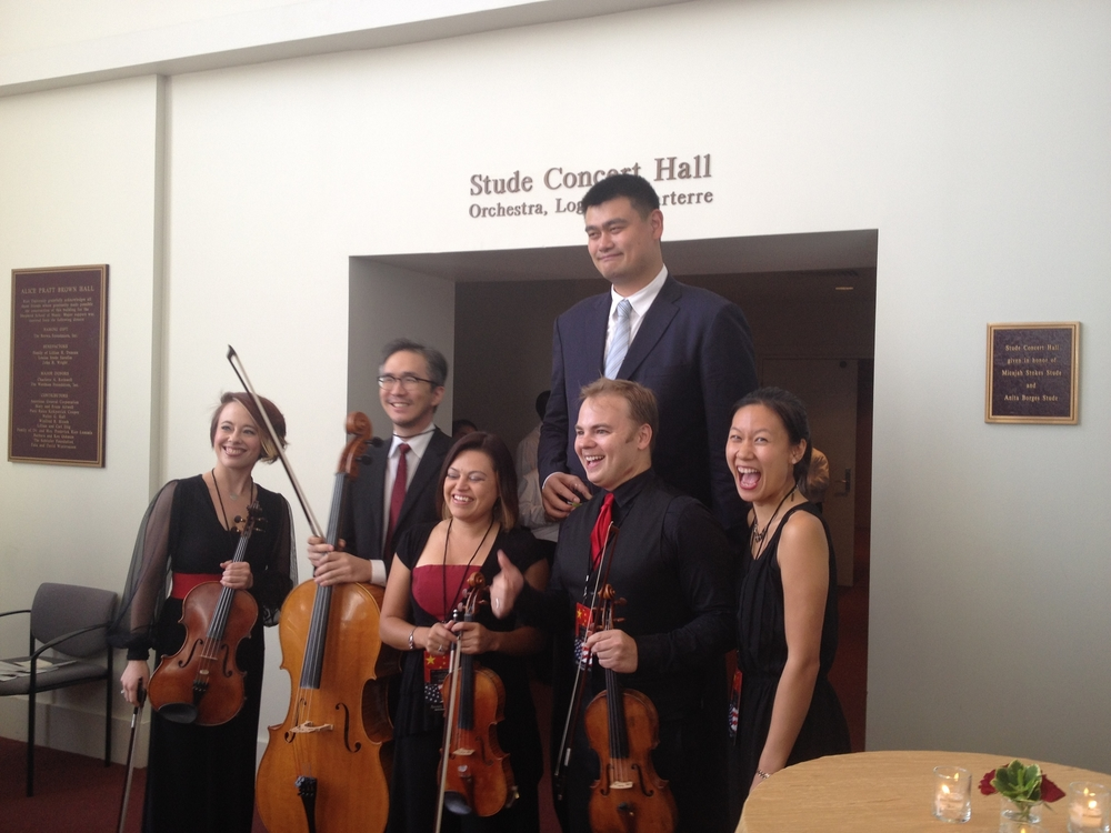 Posing with Yao and the Apollo Chamber Players (June 2015)