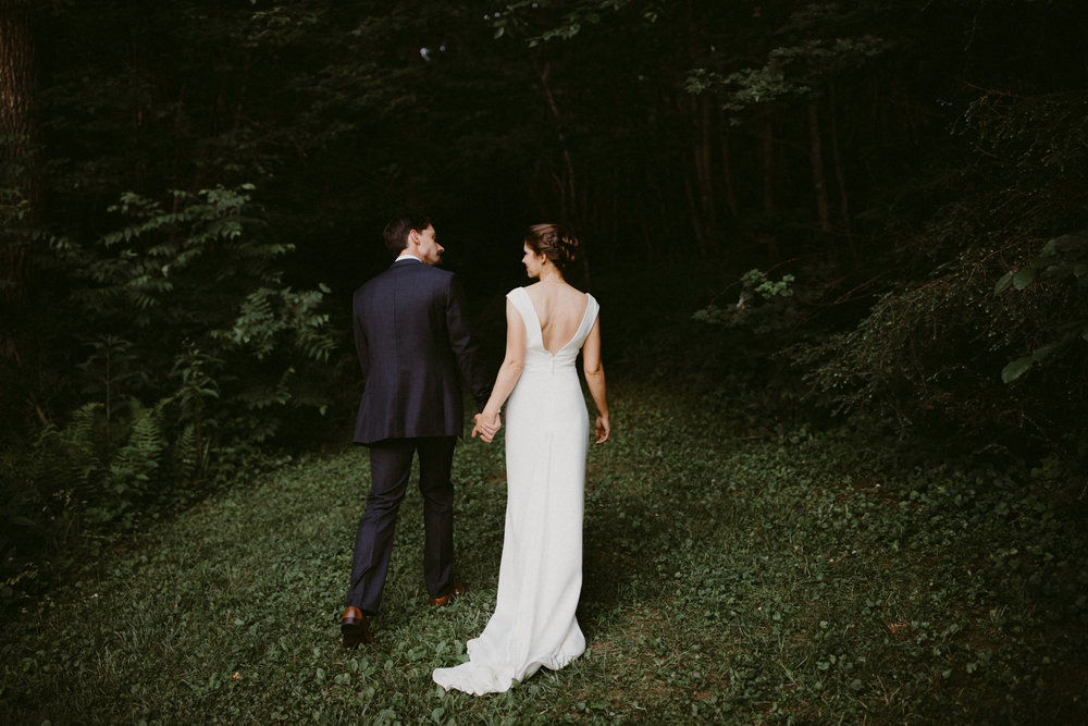 Bride and Groom Intimate Portrait in Olympic National Forest
