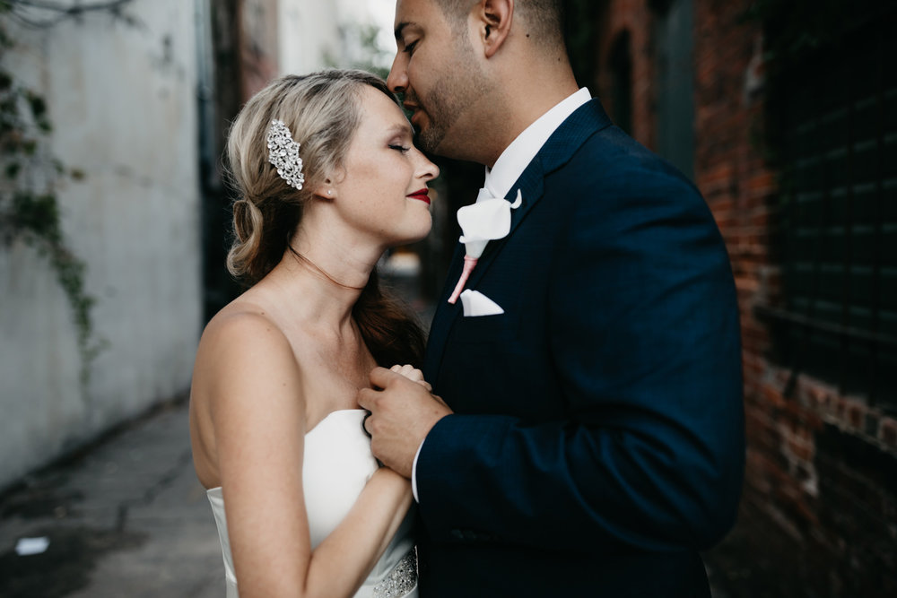 Urban Streets of Portland Wedding Portraits