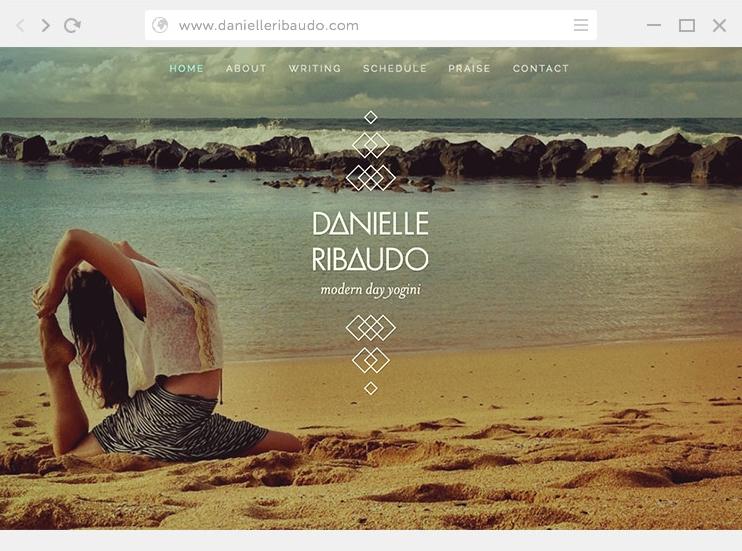 SOS Media Web Design Branding Danielle Ribaudo Yoga Teacher