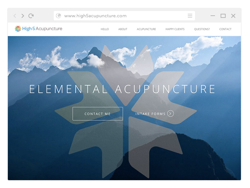 High5 Acupuncture Website Design Wordpress Denver CO