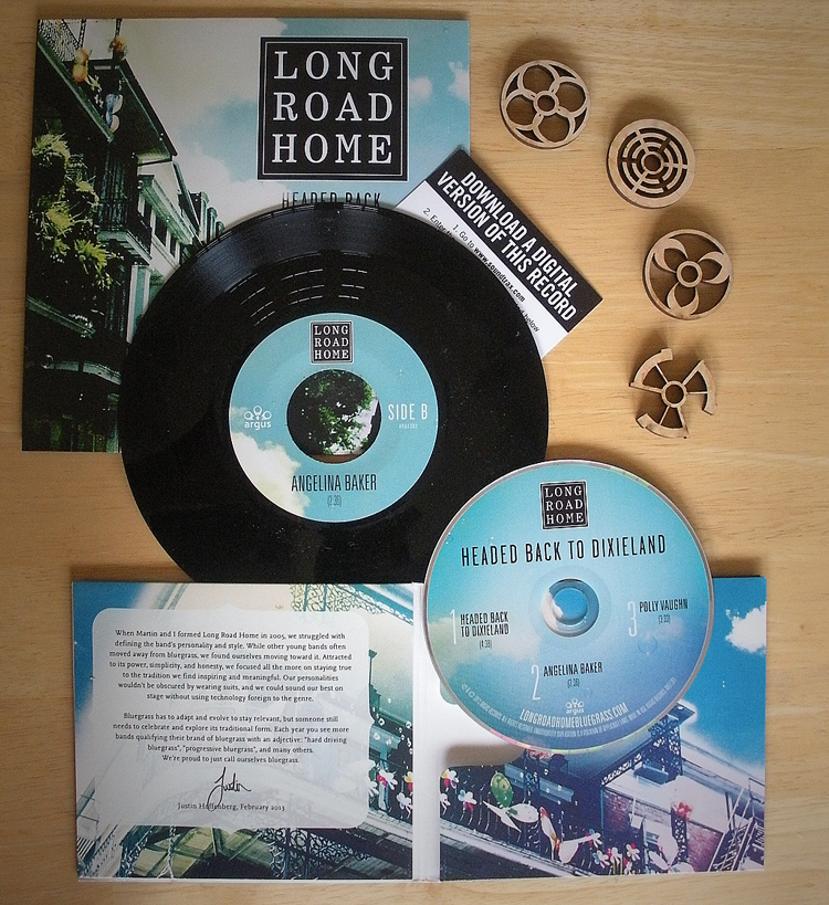 Long Road Home Bluegrass Album Packaging Design by SOS Media