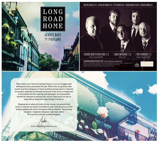 SOS Media designed the CD packaging for Long Road Home Bluegrass Band in Boulder CO
