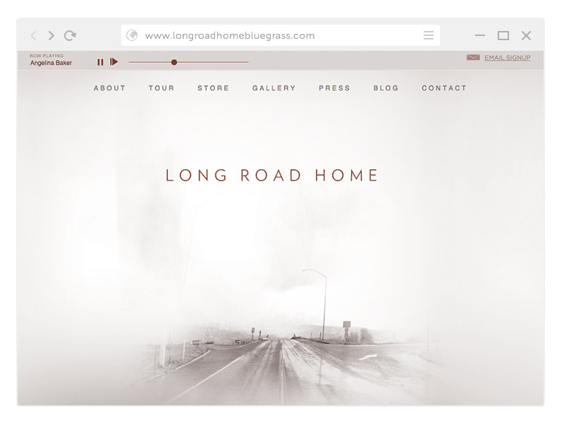 Long Road Home Bluegrass Web Site Design by SOS Media