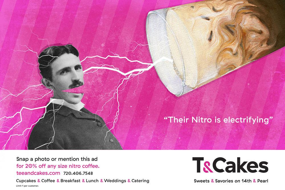 SOS Media Print Advertising for T&Cakes Boulder CO