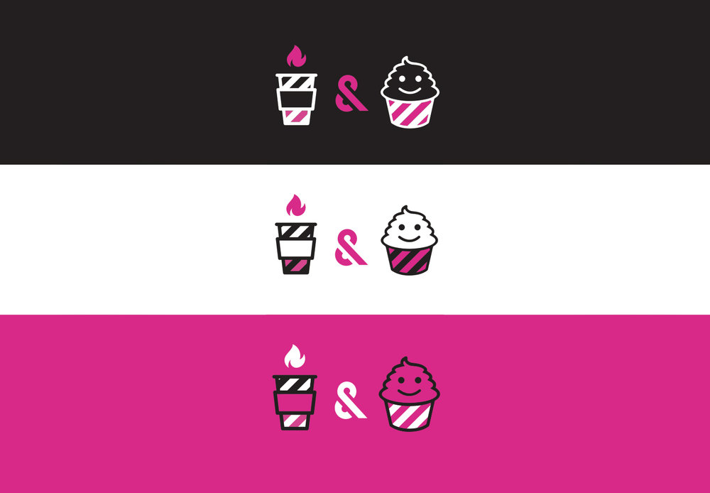 Icon Design SOS media Cafe Branding
