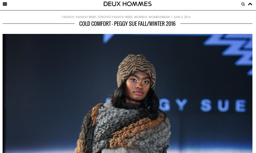 DEUXHOMMES   Cold Comfort Peggy Sue Fall/Winter 2016