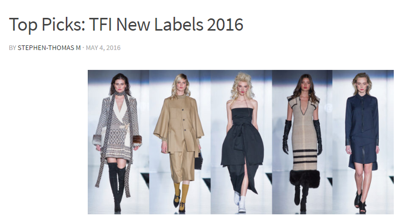 STM  Top Picks: TFI New Labels 2016