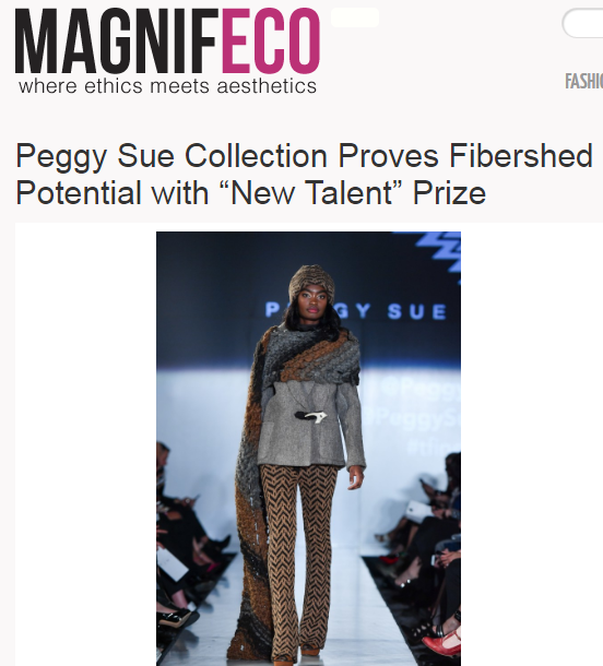 "MAGNIFECO  Peggy Sue Collection Proves Fibershed Potential with ""New Talent"" Prize"