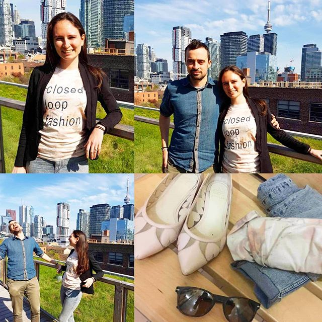 SPOTTED: Two innovators of the @csitoronto variety seen on Toronto rooftop sportin PS Collection #organiccotton - WOW! Look at them enjoy that #Toronto skyline in their #bio-dynamic color-grown cotton wares! How #innovative How #edgy - I can't even handle the cool kid factor flying off them in that sunshiney glow of #sustainablefashion 💚🌞☀🌞💚 Thank you #SWDTCONFUSED @jeffreypauldore and @libernie007  For such good vibes!! Must you have more?  www.PeggySueCollection.com  Get your sunshinin' on!