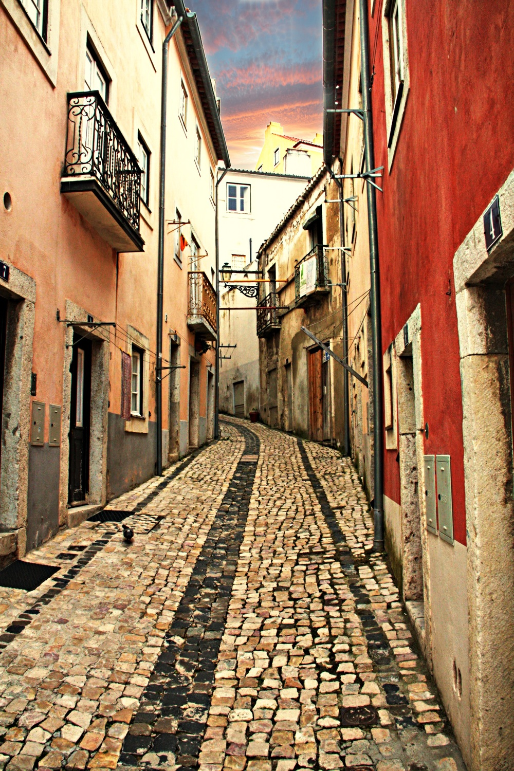 Street in Alfama Neighborhood  E101