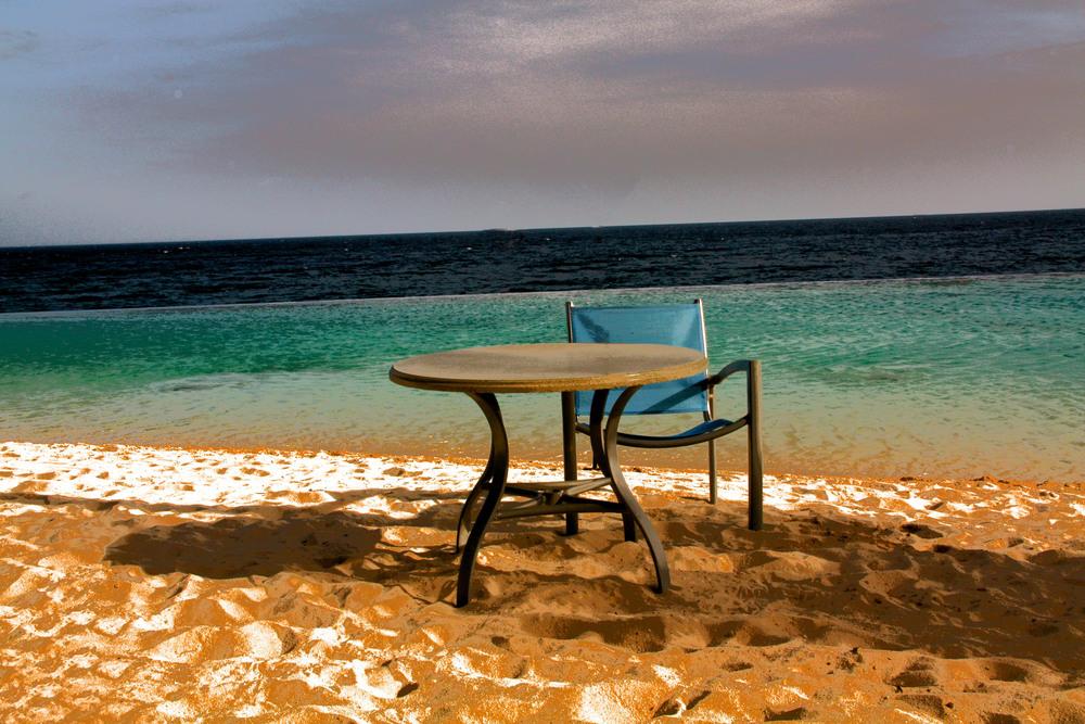 Table on Beach  W115