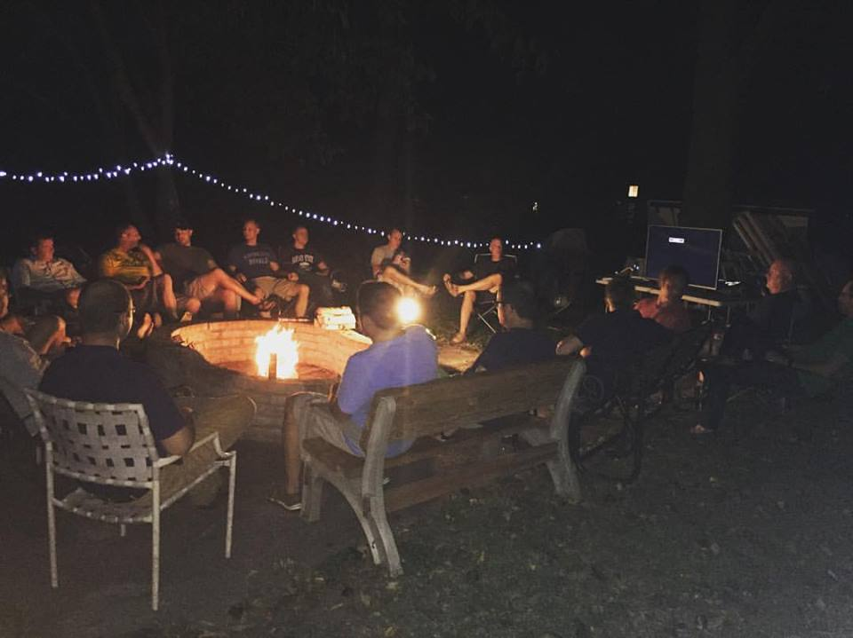 "First session of ""A Man and His Work"" We have 25 guys connected. It's not too late to join us. There's always something good when men gather around a fire and God's Word."